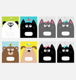 notebook cover composition book template baby cat vector image