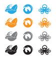 ocean wave octopus vector image