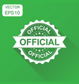 official rubber stamp icon business concept vector image