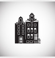 old architecture house on white background vector image