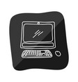 pc technology doodle vector image vector image
