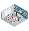 pet shop composition vector image vector image