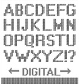 Pixel font background vector image vector image