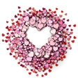 Red hearts round frame vector image vector image