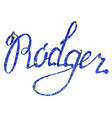 rodger name lettering tinsels vector image vector image