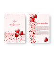 romantic flyer with red hearts vector image vector image