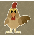 Rooster isolated on grey background vector image vector image