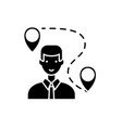 search for a solution black icon sign on vector image vector image