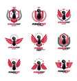 set of symbols created with clenched fist of vector image