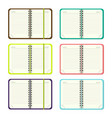 set of template open a blank notepad vector image