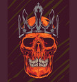 skull crown vector image vector image
