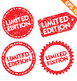 Stamp stitcker Limited edition tag collection vector image