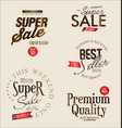 super sale retro vintage labels collection vector image vector image