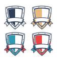 template heraldic logo with knight triangular