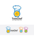time chef logo vector image vector image