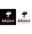valentines day card set valentine banners vector image vector image