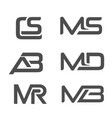 various combination letter logo