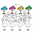Visual puzzle and coloring page vector image vector image