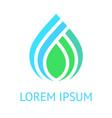 water drop green blue logo template icon vector image vector image