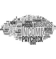 why profits and not a paycheck create wealth text vector image vector image