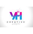 yh y h letter logo with shattered broken blue vector image vector image
