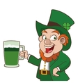 leprechaun character holding beer icon vector image