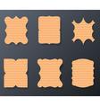 Vintage Cardboard Paper Labels Set vector image