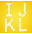 Letters IJKL composed from daisy flowers Complete vector image