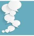 Spech Bubble Background Flat vector image