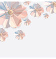 Abstract polygonal flower decoration vector image