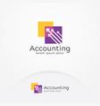 accounting logo vector image vector image