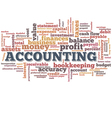 Accounting Word Cloud Word Bubble tags vector image vector image