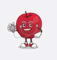apple cartoon mascot character as a doctor vector image vector image