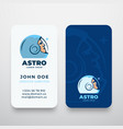 astro abstract logo and business card vector image vector image