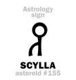 astrology asteroid scylla vector image