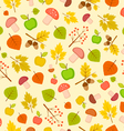 autumn seamless pattern with leaves and apples vector image vector image
