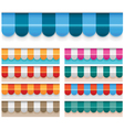 Awnings vector image