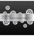 Background with shiny metallic gears vector image