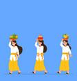 balinese girl walking bring fruit for offering vector image vector image