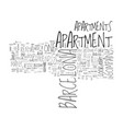 barcelona apartment rentals text word cloud vector image vector image