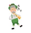bavarian musician icon vector image