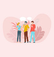 best friends having good time together scene vector image