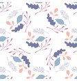 branches and leaves seamless pattern on white vector image vector image