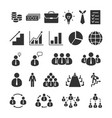 business icons set office finance vector image