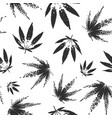 cannabis seamless pattern design - black and white vector image vector image