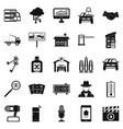 car recorder icons set simple style vector image vector image