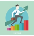 Career concept in flat design style vector image vector image
