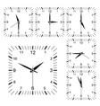 clock square shaped clock set vector image