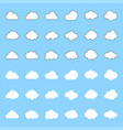 cloud icon filled and outline deign editable vector image vector image