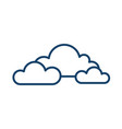 cloudy and overcast weather icon with group vector image vector image